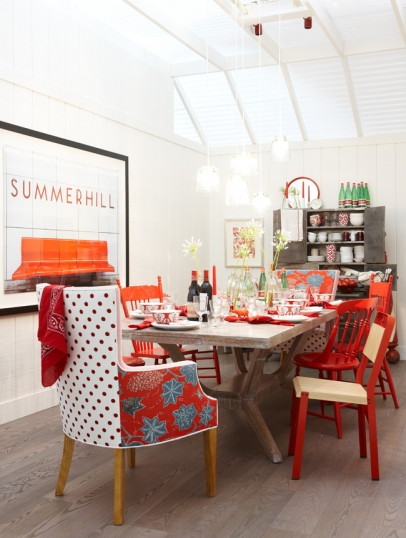 Sarah Richardson's Red Dining Room | urbanspicehomewares