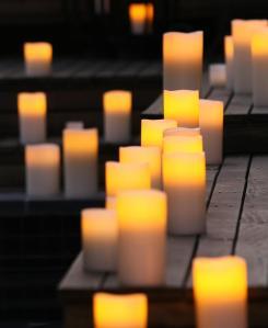 enjoy lighting candles