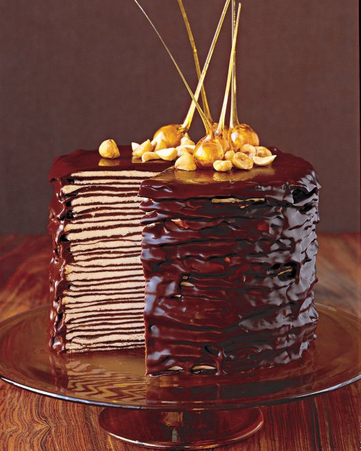 Darkest Chocolate crepe cake