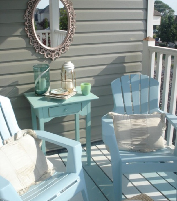 powder blue adirondack chairs