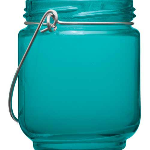 Turquoise tea light candle