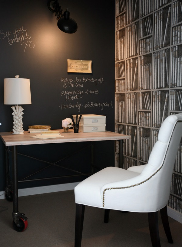 blackboard wall office by The Cross Design Interior Designers & Decorators