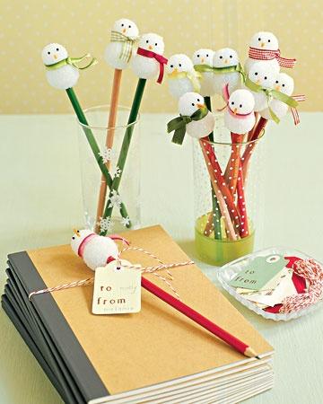 Snowman pencils